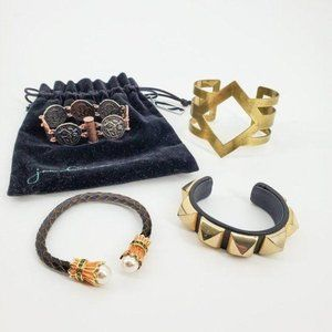 Bracelet Four Piece Mixed Material Jewelry Lot
